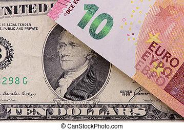 billets banque, différent, devises