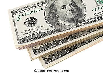 billets banque, etats-unis, dollars