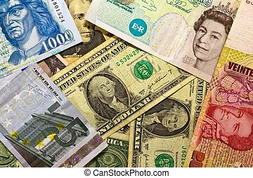 billets banque, international