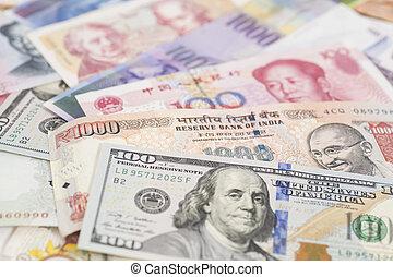 billets banque, international, devises