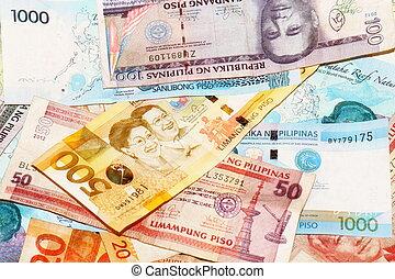 billets banque, philippin, peso