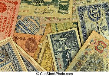 billets banque, vieux