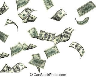 billets banque, voler, dollar