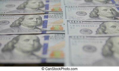 billets dollar, billets banque, 100