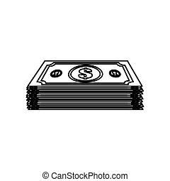 Billets money isolated