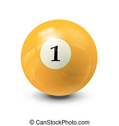 billiard ball 1- realistic vector design