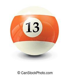 billiard ball 13