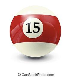 billiard ball 15