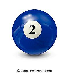 billiard ball 2- realistic vector design