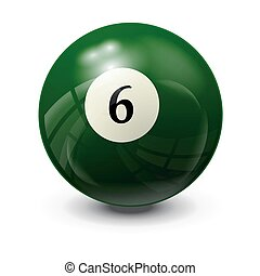 billiard ball 6