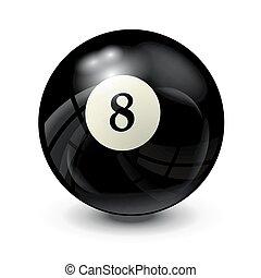 billiard ball 8- realistic vector design