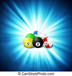 billiard ball background - set of billiard balls, billiards,...