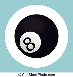billiard ball black eight icon