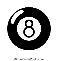 billiard ball  eight pictogram
