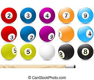 Billiard ball emblem in flame