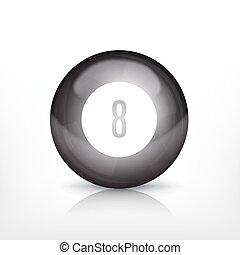 Billiard ball. EPS10 vector icon