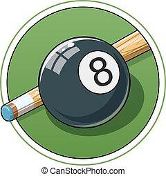 Billiard ball. Eps10 vector illustration. Isolated on white...