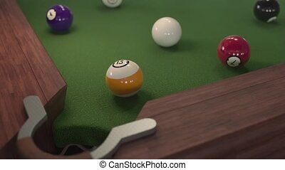 Billiard ball hits the hole in 4k