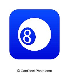 Billiard ball icon blue