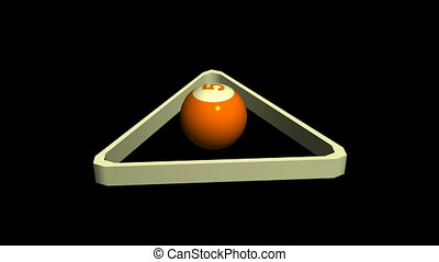Billiard Ball in Rack
