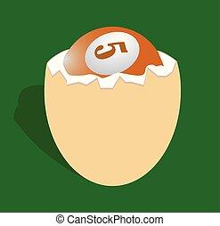 Billiard ball in the egg