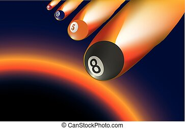 Billiard ball - meteorite