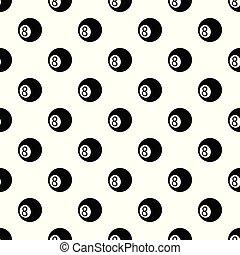 Billiard ball pattern vector seamless