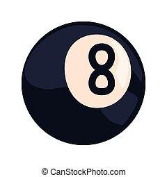 billiard ball sport vector illustration design graphic