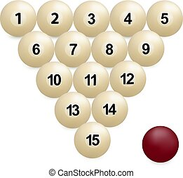 billiard balls photo-realistic vector on white background