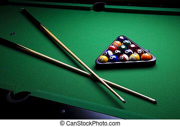 Billiard balls, pool - Billiard game