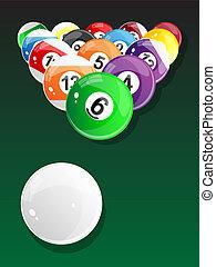 Billiard balls - pool. Vector.