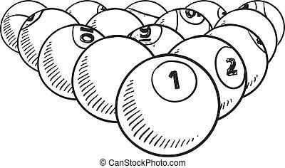 Billiard balls sketch