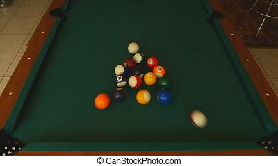 Billiard balls snooker - The billiard ball ricocheted in a...