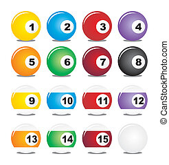 billiard balls - suitable for user interface