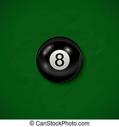 Billiard black ball