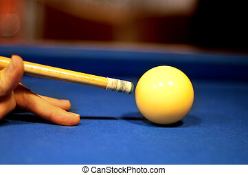 Billiard close up photo