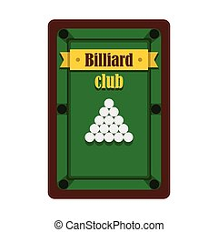 Billiard club emblem in flat style