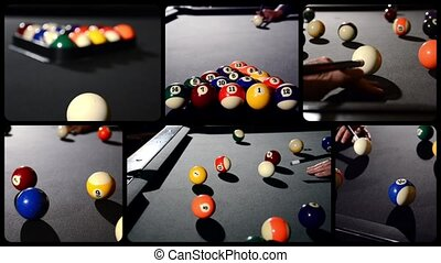 billiard, composition - billiard game situation