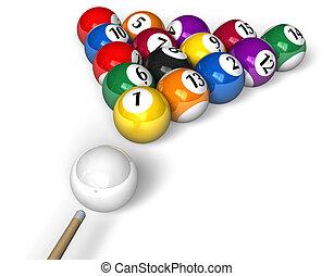 billiard, concept