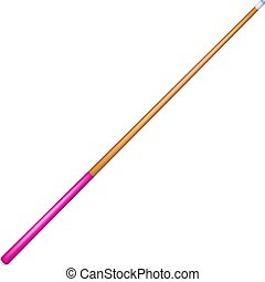 Billiard cue with pink handle