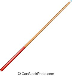 Billiard cue with red handle