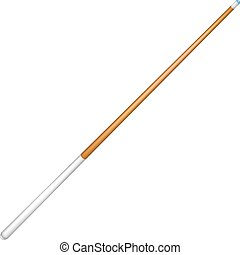 Billiard cue with white handle