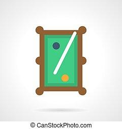 Billiard entertainment flat color vector icon