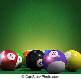 Billiard Game Copy Space Background. Pool Billiard Cue Sport...
