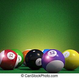 Billiard Game Copy Space Background. Pool Billiard Cue Sport...