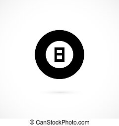 Billiard icon isolated on white background