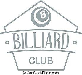 Billiard logo, simple gray style