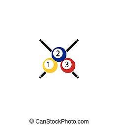 Billiard logo template vector