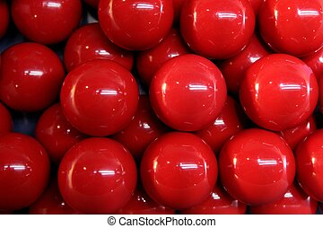 Billiard many red balls rows background texture