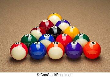 billiard on table
